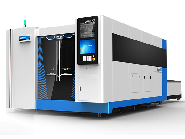 High-power fiber metal laser cutter with full cover