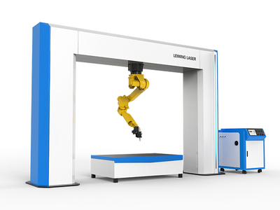 Lift on lift-off type robot laser cutting machine